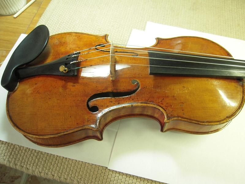 ガダニーニ2つめのバイオリン、ボディのアーチ