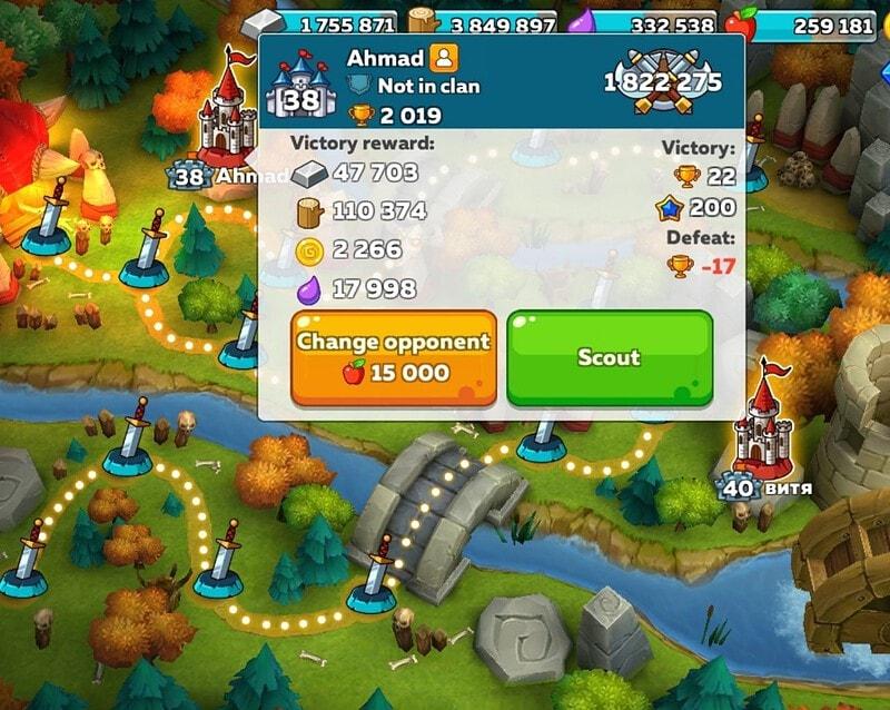 Hustle Castle PVP Battle Morning Routine Change Opponent
