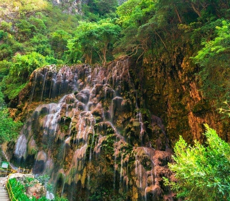 pequeña cascada en un bosque - Visite Las Grutas Tolantongo