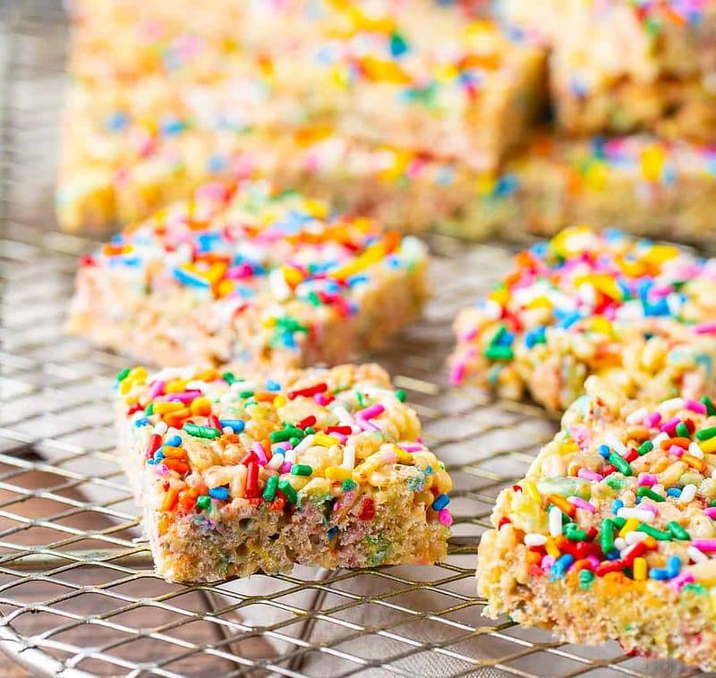 sprinkles rice krispie treats