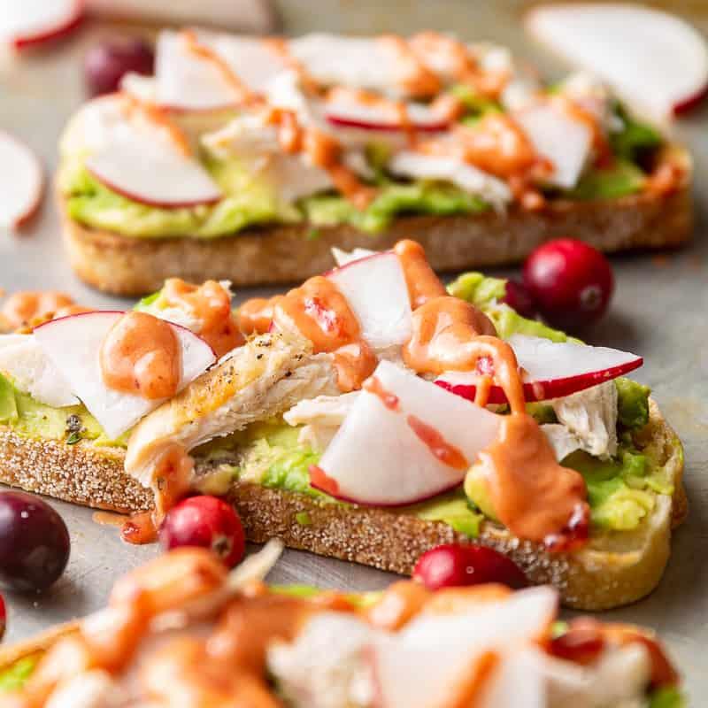 turkey avocado toast