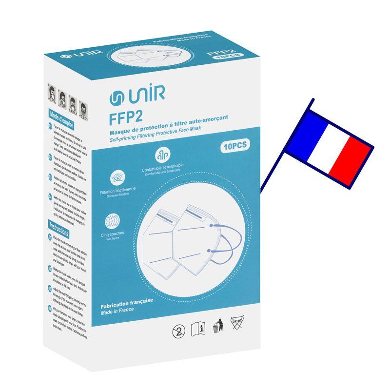Boite de masque FFP2 Unir avec drapeau Français