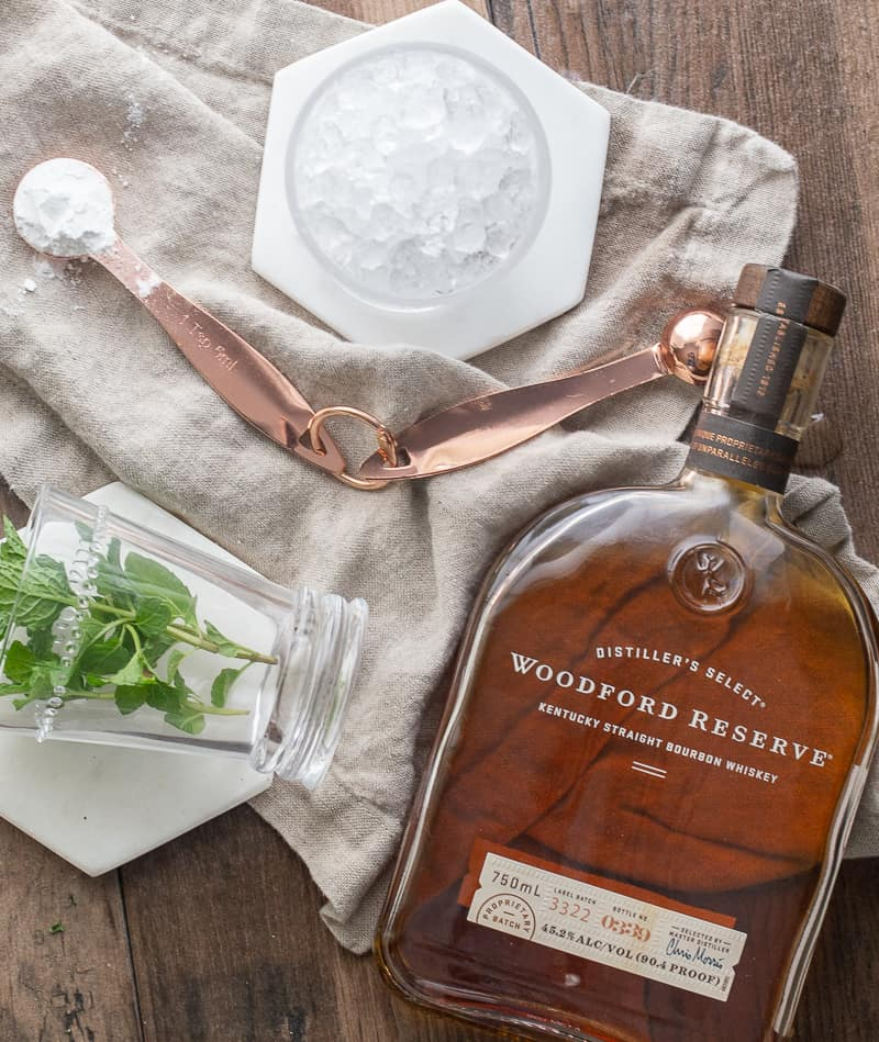 Ingredients for mint julep