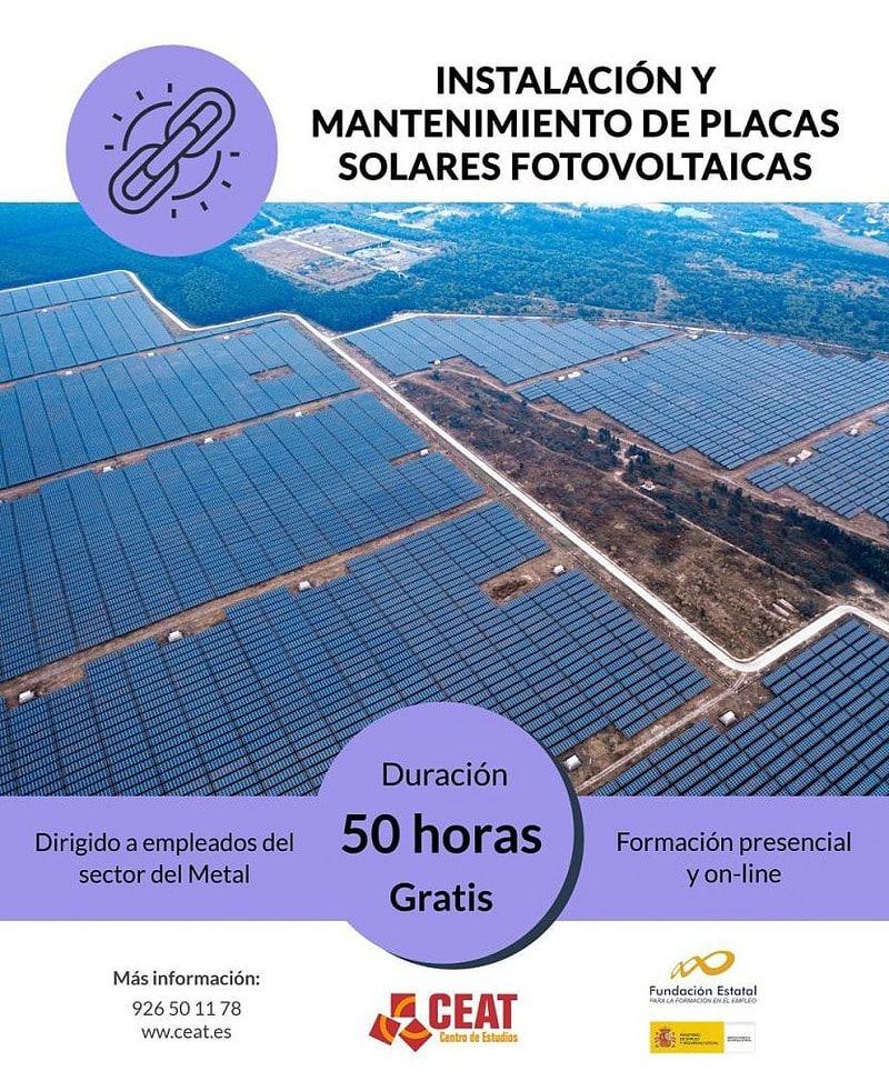 curso instalación y mantenimiento de placas solares fotovoltaicas para empleados