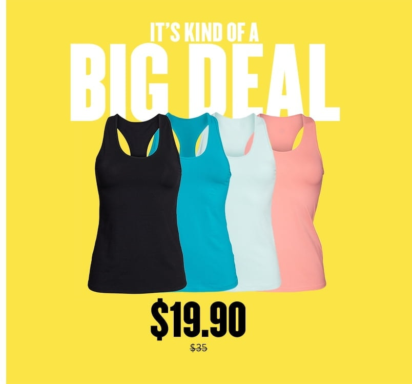 Annual Nordstrom sale daily deal featuring a Zella activewear tank top at almost 50% off