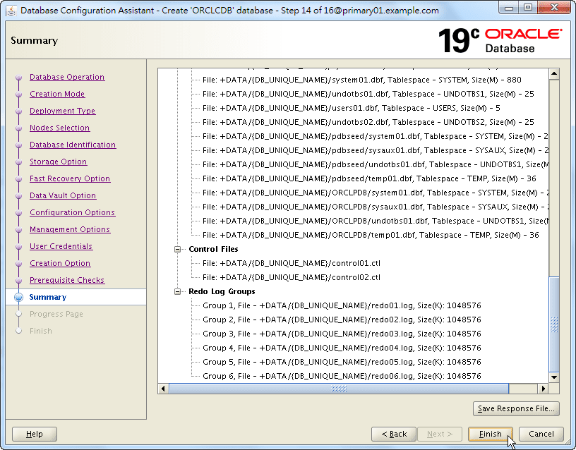 Oracle 19c Database Creation by DBCA - 14 - 04