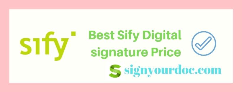 sify digital signature price