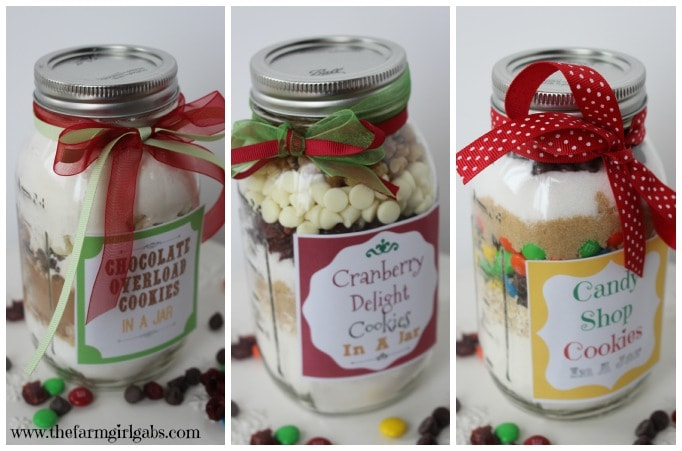 Cookies in a Jar Recipes - perfect for gift giving at Christmas or any time of the year.