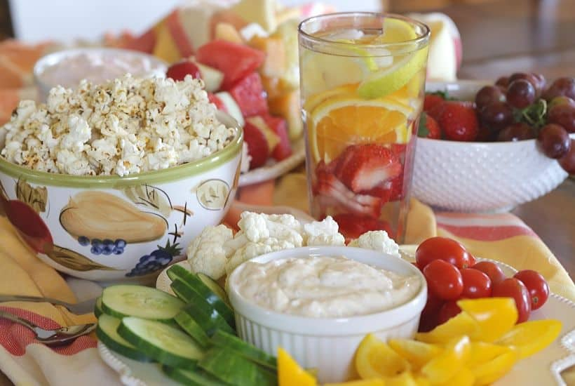 Lighten up your next get together. These 5 Healthy Party Snack Ideas are perfect to serve are your next party. These low-fat party food recipes everyone will enjoy!