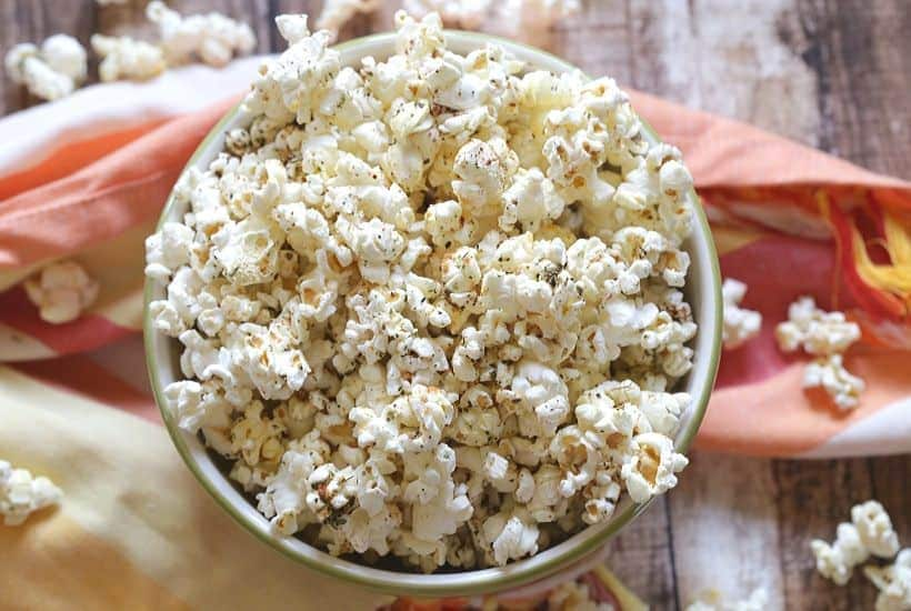 Lighten up your next get together. These 5 Healthy Party Snack Ideas are perfect to serve are your next party. These low-fat party food recipes everyone will enjoy! Zesty Italian Popcorn lowfat Recipe