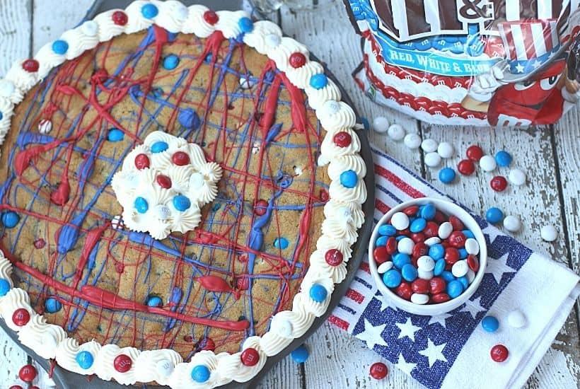 Firecracker Cookie Cake