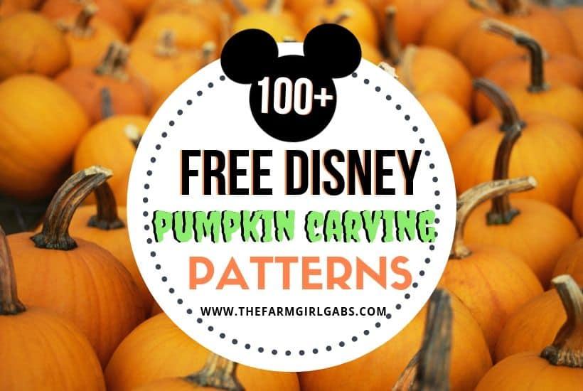 100+ Disney Pumpkin Carving Ideas