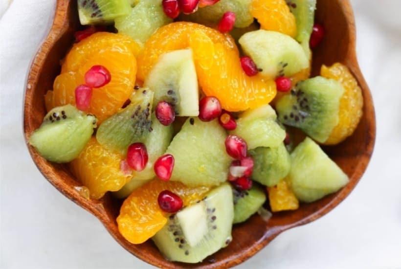 Kiwi Fruit Salad With Honey Citrus Dressing