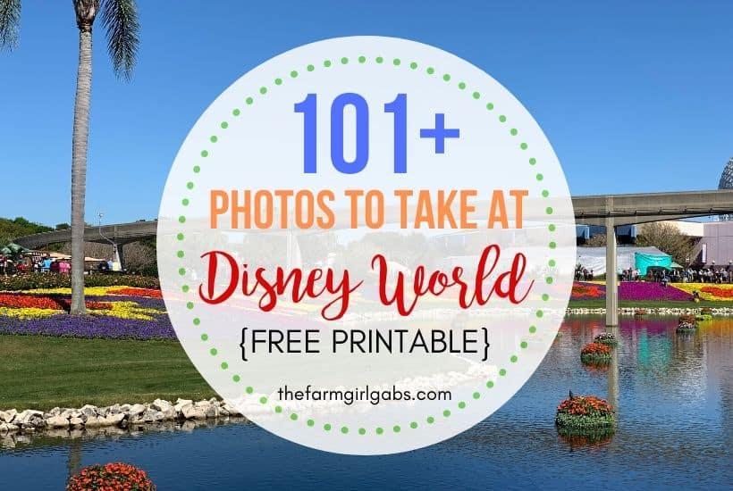 101 Photos To Take At Walt Disney World
