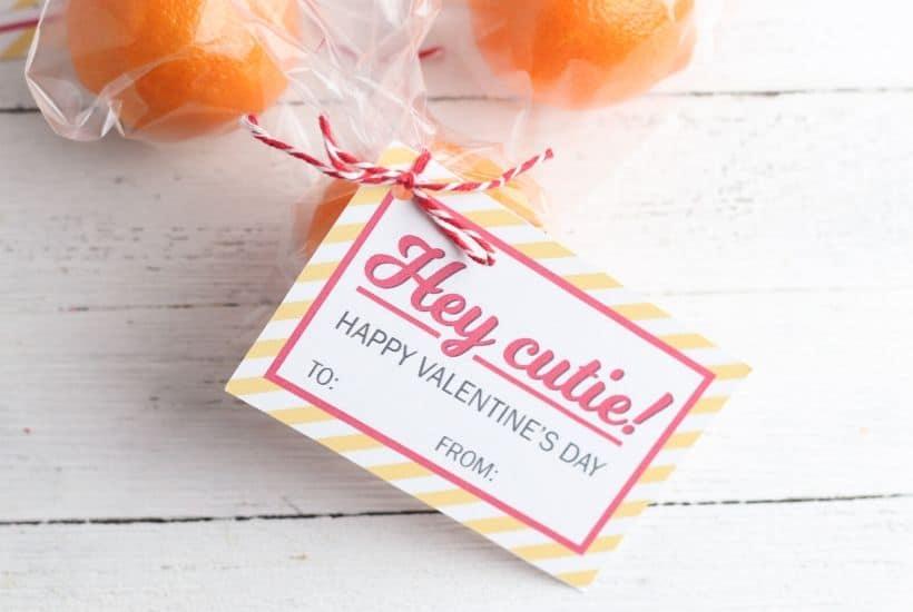 Hey Cutie Printable Valentine for Kids