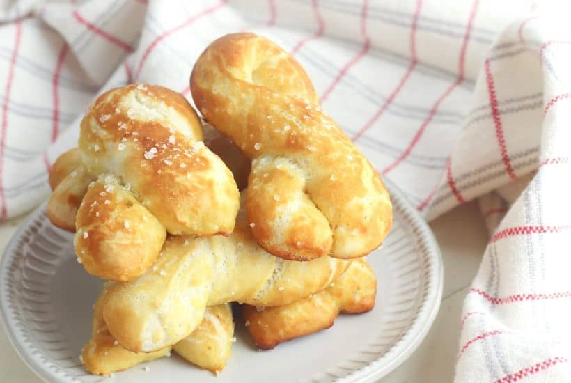 Craving a salty snack? Whip up a batch of these Easy Homemade Soft Pretzel Twists. This easy snack recipe won't last long.This basic pretzel dough recipe can be shaped into twists, knots, bites or the classic pretzel shape.