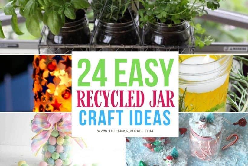 DIY Recycled Glass Jar Crafts