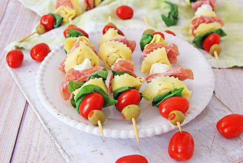 Tortellini Antipasto Skewers Appetizers