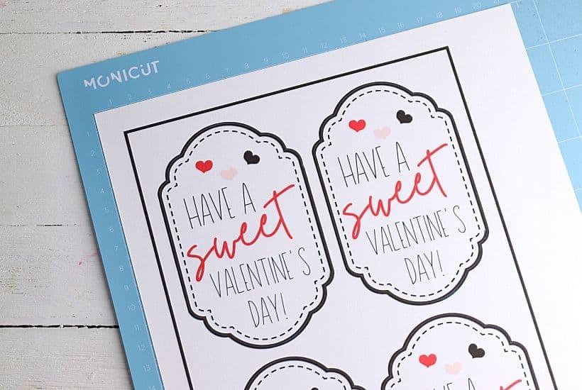 Mason Jar Valentines With Printable Valentine Gift Tags