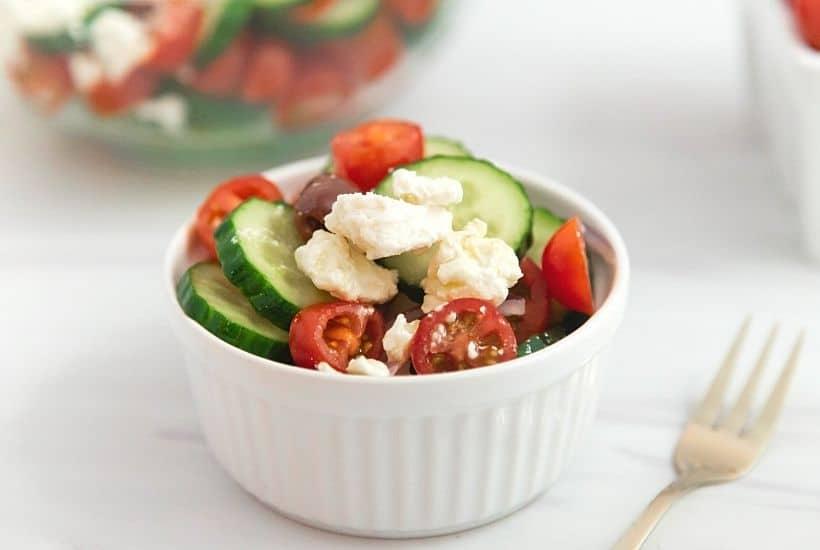 Easy Homemade Greek Salad