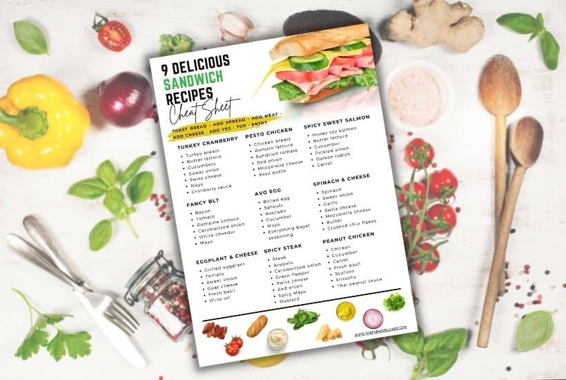 Free printable Sandwich recipe ideas