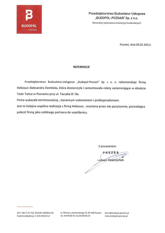 referencje budpol