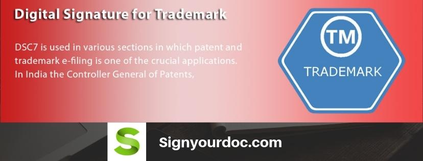 digital signature for trademark