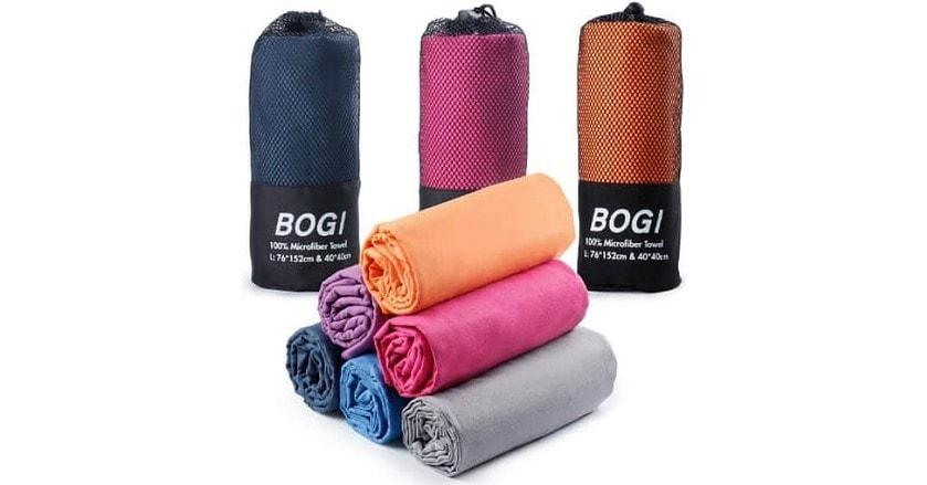 BOGI Microfiber Travel Sports Towel