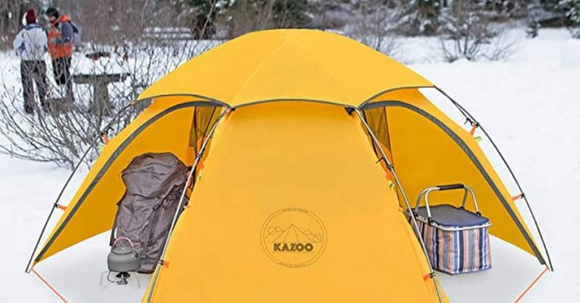 KAZOO Waterproof Durable Tent at the snow