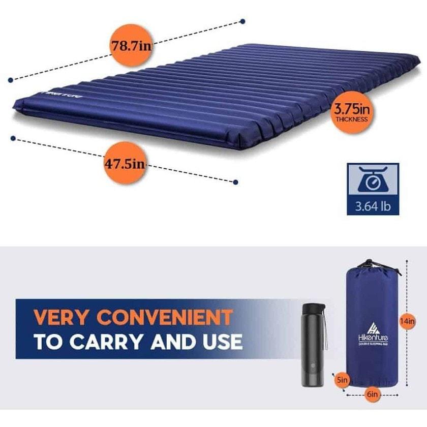 Hikenture Double Sleeping Pad dimensions