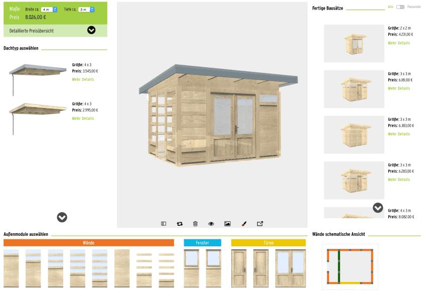 3D-Planer für Gartenhäuser - ObjectCode GmbH