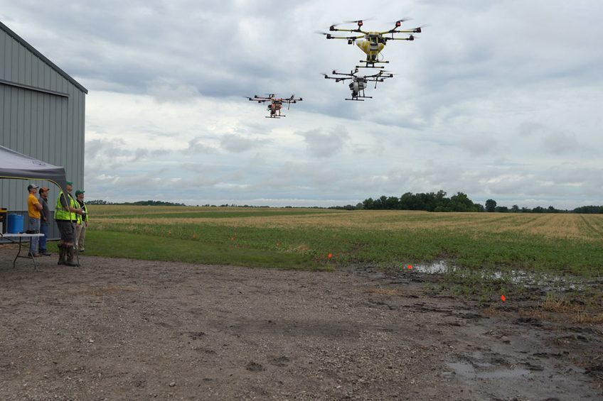Drone swarm takes off in USA