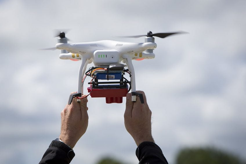 Drones can be used to increase crop yields and reduce input costs.