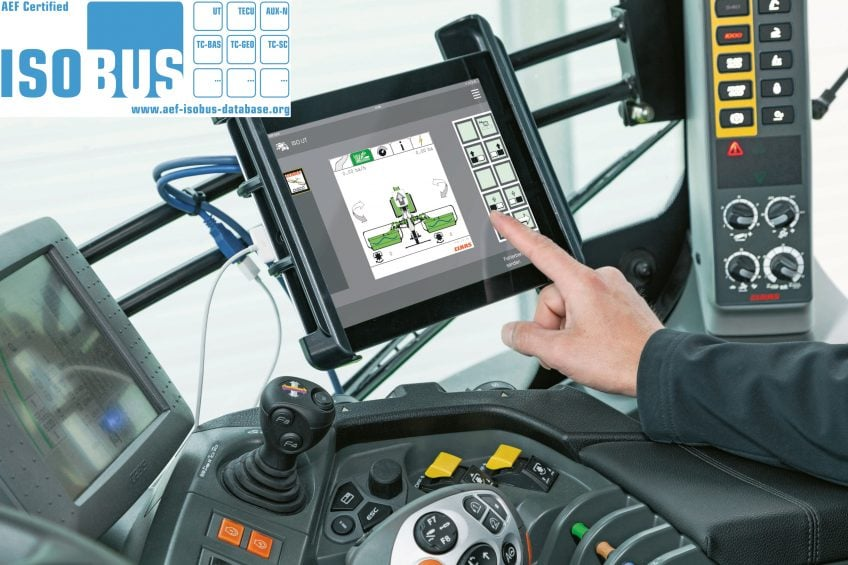 Tablet app approved for in-cab machinery control