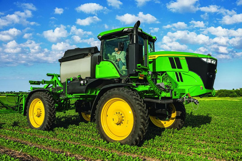 A roomier cab is among the upgrades evident on the latest John Deere self-propelled sprayers. - Photo: John Deere