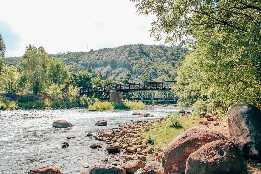 Rotary Park and Animas River Trail in Durango, Colorado.