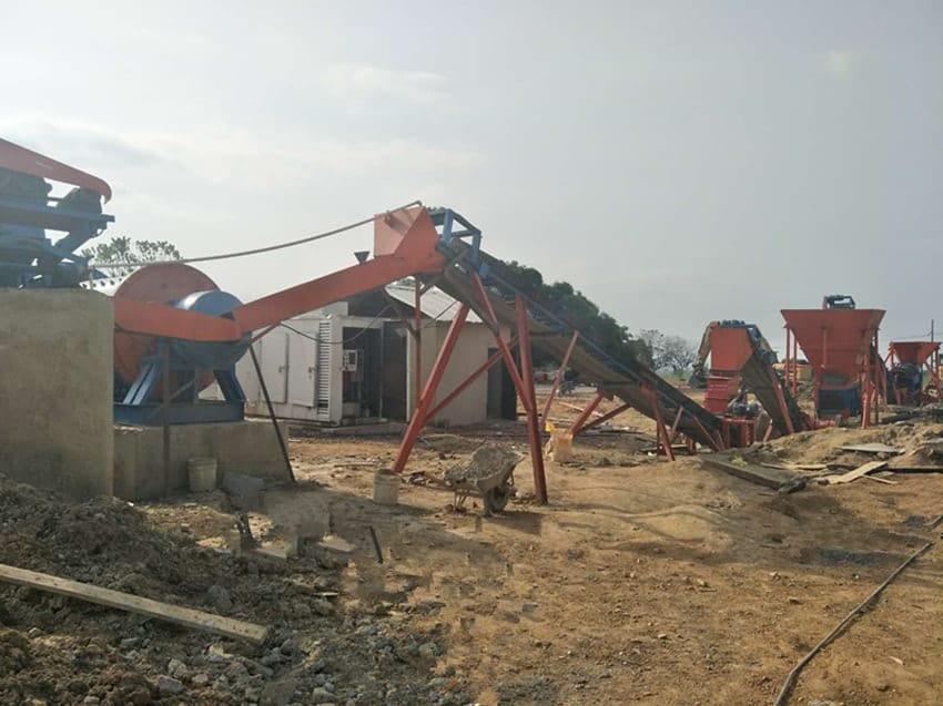 rock gold mining plant