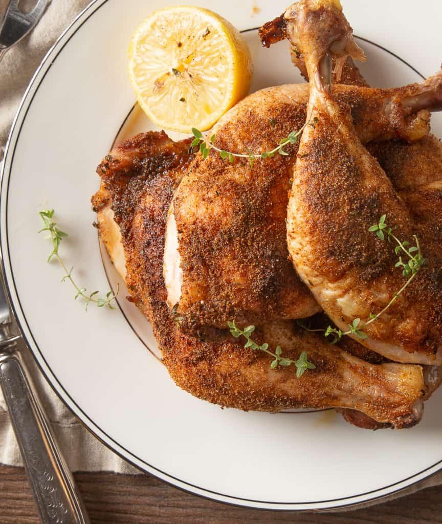 baked chicken leg quarters