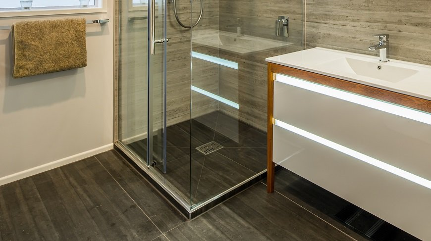 Installed Didosi Tileable (Tile Over) shower tray by Henry Brooks