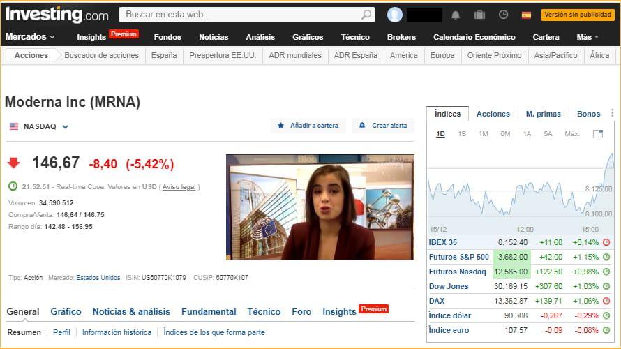 Investing.com ofrece cotizaciones en tiempo real gratis