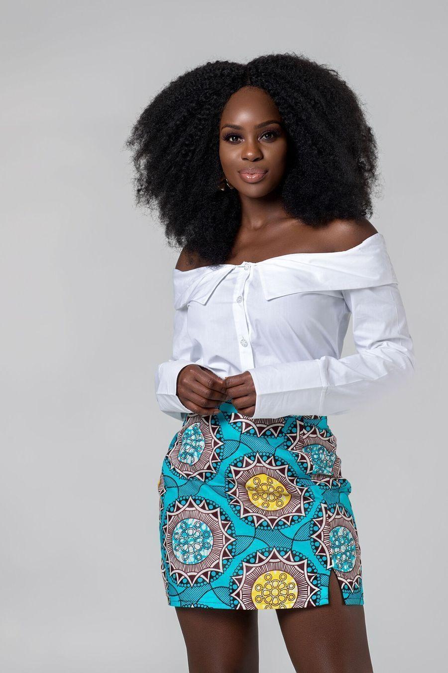 23 Hottest African Print Skirts   Leela Mini Skirt by Grass-Fields 23