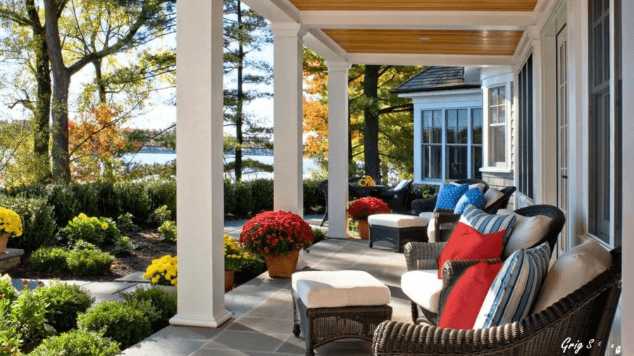 COLORFUL BACK PORCH DESIGN IDEAS WITH NATURAL IMPRESSION