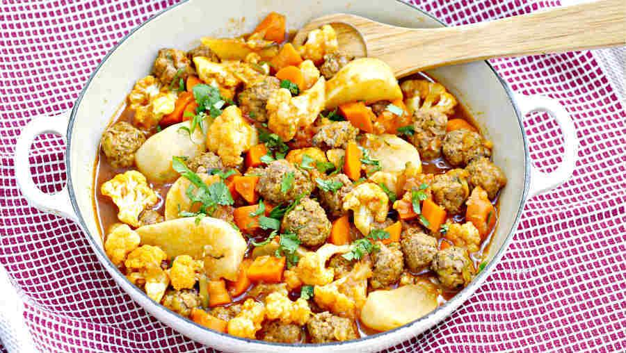 cauliflower meatball ragout