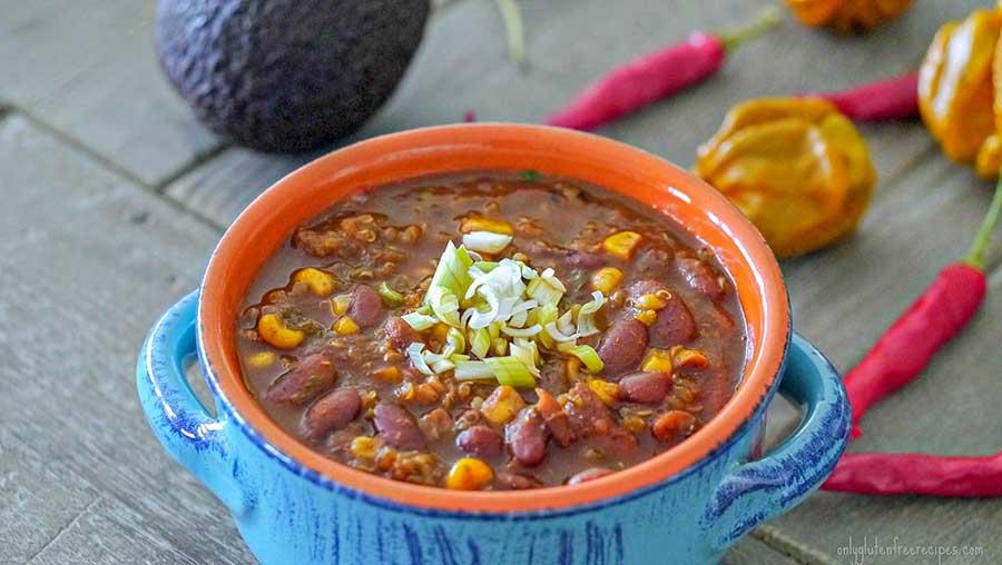skinny vegetarian chili