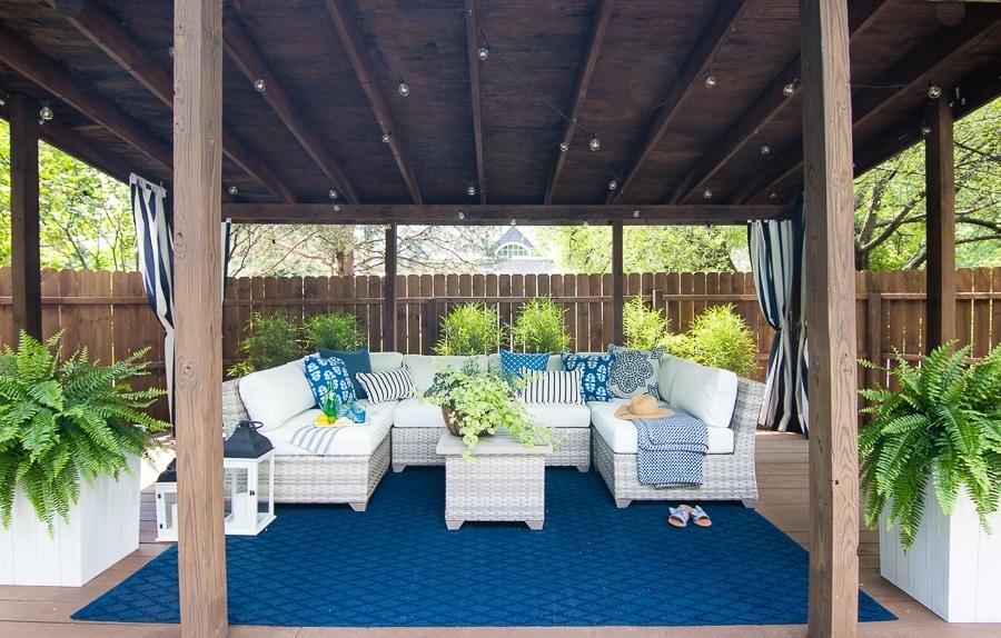 pool cabana sectional outdoor furniture