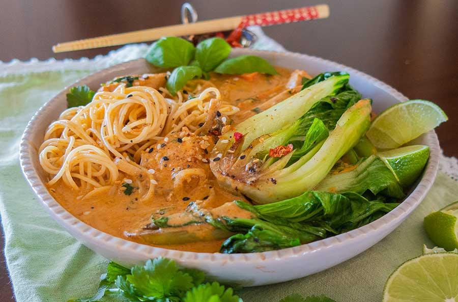 creamy thai chicken