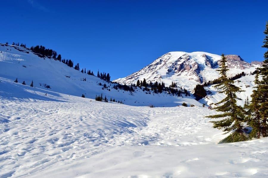 Mount Rainier National Park in the winter