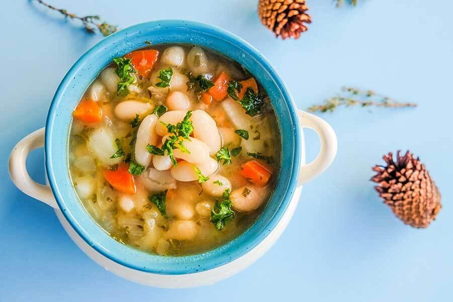 vegan, white bean, soup