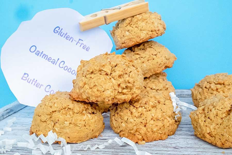 oatmeal coconut butter cookies, gluten free