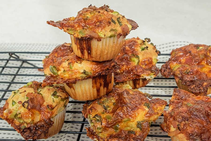 savoury breakfast muffin, gluten free